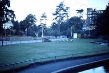 Vintage Kodak Kodachrome Slide Negative Uknown Parks Scenery, Tree, Flower Bench