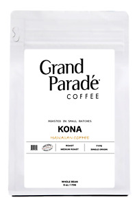100% Hawaiian Kona Medium Roast Coffee Beans, Fresh Roasted Daily, 6oz Bag