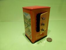 TIN PLATE TOY BLECH KRZ GERMANY d.p. angem - SAFE  MONEY BOX  SPAR DOSE -VINTAGE