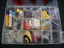 Mixed Lot of Glass Beads Gemstones Seed Glass Feather and Others Jewelry Crafts