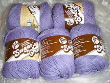 """5 Skeins, Lily, """"Sugar 'N Cream"""", Hot Purple, 100% Cotton Yarn"""