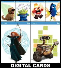 Topps Disney Collect PIXAR PERSONALITIES Series 1 [6 CARD SET] Wall-E/Alien+++