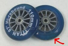 TWO BLUE 110mm Replacement Wheels for Kick Scooter / Skates DISCOLORED CLEARANCE