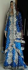Stunning Royal Blue Trail Bridal Lengtha Brand New