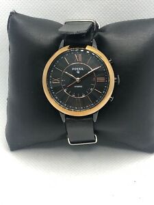 Fossil Q FTW5030 Men's Black Leather Analog Black Dial Hybrid Smart Watch HK335