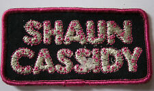 SHAUN CASSIDY Original Vintage 1970`s Embroidered Patch/écusson/parche Glittered