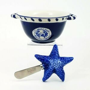Star Fish Butter Bowl Keeper and Knife Kitchen Home Decorative Décor Goldminc