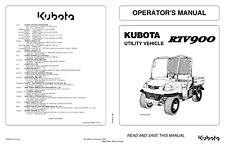 KUBOTA UTILITY VEHICLE RTV900 OPERATOR MANUAL REPRINTED 2009 EDITION