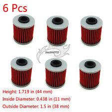 6x Oil Filter For SUZUKI RMZ250 RMX450Z KX250F FL125 SDW ADDRESS KAWASAKI KX250F
