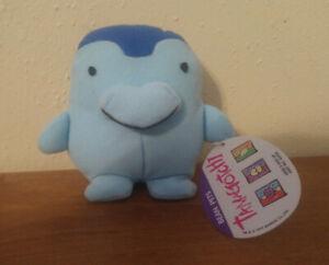 Vintage Bandai Blue Tamagotchi Bean Plush (1997)