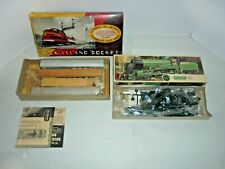 TWO VINTAGE TRAIN MODEL KITS ONE PLASTIC AND ONE WOODEN WITH BOXES