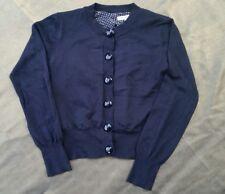 New M&S Autograph Girls Black silk/Satin spot lined fine knit cardigan-11-12yrs