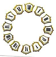 Cartouche émail index dial cadran horloge pendule uhr metier cartel clock CL