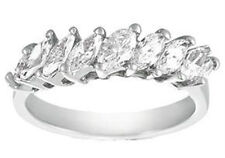 in 14 kt White Gold Mounting Ladies 1.50 Ct Marquise Diamond Wedding Ring