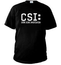 T-Shirt CSI Crime Scene Serie TV Film New YORK MIAMI felpa maglia maglietta polo