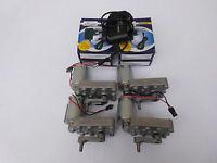 Getriebemotor Gleichstrom Motor 6 - 12V Elektromotor mit Kurbel + Netzteil 12V