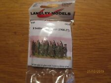 "LANGLEY MODELS F49 8 Soldiers and 1 officer (1908-37)  00/HO    ""~*"