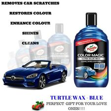 TURTLE WAX COLOR MAGIC BOTTLE CAR POLISH NEW FORMULA SCRATCH REMOVER  ULTRA BLUE