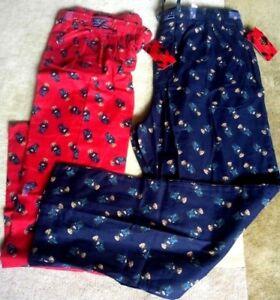 Ralph Lauren Bear Pajama Bottoms Red ONLY, sz: Small