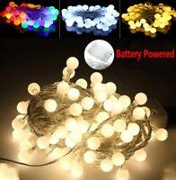 10-50LED Fairy String Lights Bulb Ball Lamp Christmas Wedding Party Garden Decor