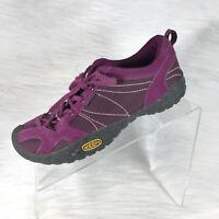 KEEN Women's Hiking Walking Shoes Purple Suede Lace up Size 6