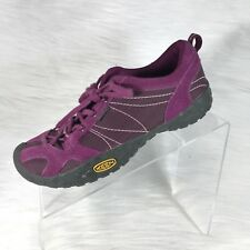 KEEN Women's Hiking Walking Shoes Purple Suede Lace up Size 6