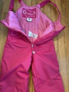 Pink OBERMEYER WARM UP BIB Kids Size 5 Ski Snow Pants