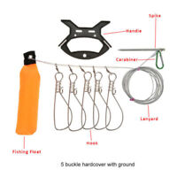Buckle Lock Fish Stringer Lock Fishing Rope Stringer Clip Tackle Tool Wire Rope