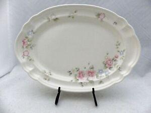 "Pfaltzgraff Tea Rose pattern - Oval scalloped Serving Platter - 12 3/4"" - EUC"