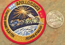 """Apollo/COHO (Soyuz) Vintage 4"""" Cloth Patch & Coin W/Flown Mat'l from 2 vehicles"""