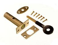 NEW DOOR SECURITY RACK BOLT AND STAR KEY 60MM EB + SCREWS ( pack 2 locks + 2 key