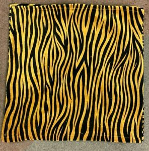 """3 x TIGER PRINT REVERSIBLE 18"""" x 18"""" CUSHION COVERS HOME NOT QUITE PERFECT"""