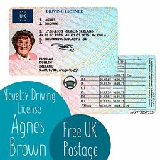 Mrs Browns Boys Agnes Novelty Driving License - Customisable Card