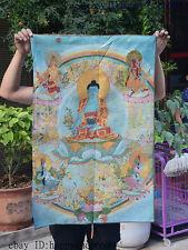 "36"" Tibet Buddhism Silk Cloth Sakyamun Medicine Buddha Thangka Painting Mural 02"