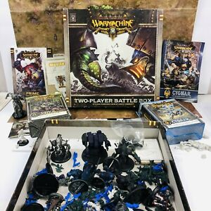 Warmachine Two Player Battle Box Cygnar Cryx Lot