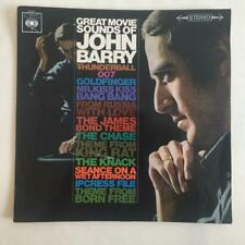 John Barry Great Movie Sounds JAMES BOND UK 1st Pressing STEREO CBS EXCELLENT
