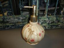 CROSCILL ROSE GARDEN EGGSHELL FLORALCERAMIC SOAP/LOTION DISPENSER