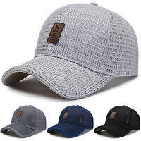 Men Summer Mesh Sport Baseball Cap Snapback Hat Outdoor Visor Sun Protection Cap