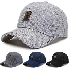 Mens Mesh Breathable Baseball Hat Outdoor Wild Sun Protection Sports Golf Cap