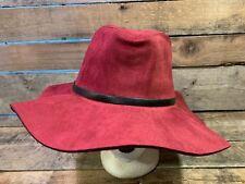 BCBG Maxazria Red Burgundy Wine Floppy Panama Women's One Size Cap Hat NEW NWT
