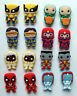 SHOE CHARMS (B5) - inspired by CUTE MUTANT SUPERHERO - (16XM) pack of 16