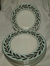 """6 Vera Wang By Wedgwood """"Sable Duchesse""""  8"""" Accent Salad Plates  Mint"""