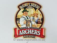 Archers Brewery Real Ale Pump Clip Real Lager