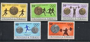 TRINIDAD AND TOBAGO STAMPS 1972 OLYMPIC GAMES MUNICH  SG 422/26 Mnh