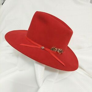 Bailey Sz 6 7/8 Long Oval Red X Double X Tall Cowboy Hat Vintage Western