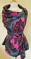 Vivienne Westwood Anglomania floral wrap around blouse with tie IT 42 UK 10-12