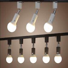 Minimalist bulb track light lamp for home store, White black spot ceiling lamp