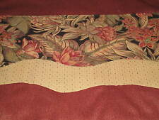 8 Foot Custom Valance With 2 Fabrics Layered One Floral Tapestry
