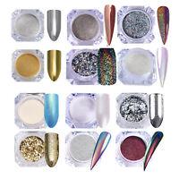 Born Pretty Holo Chameleon Nail Powder Flakies Chrome Mirror Laser Glitter Dust