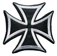 """Maltese Cross Choppers Signs Symbols 7.5"""" Large Back Patch Embroidered Iron On"""